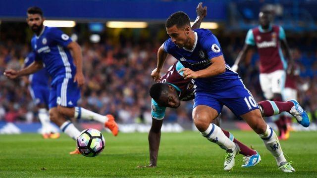 Hazard scores as Chelsea beat West Ham