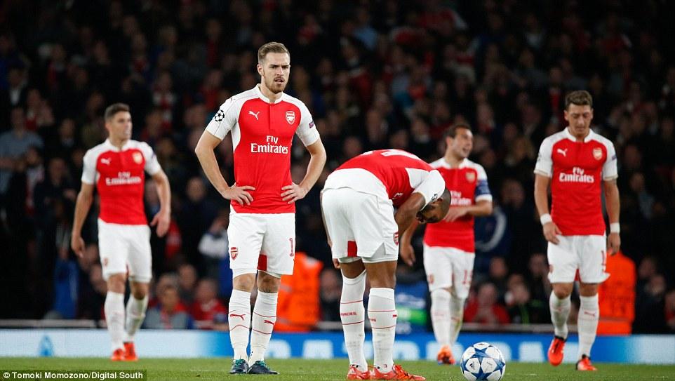 Sad Arsenal players