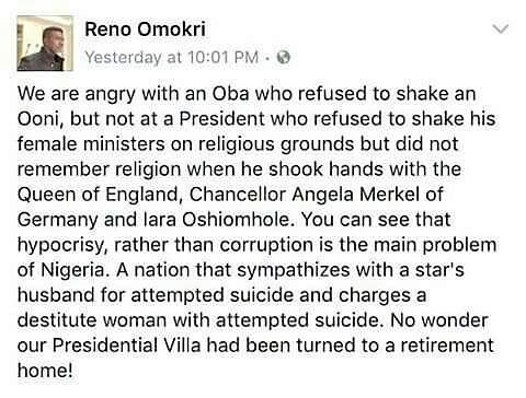 Reno Omokri speaks again This time drags the President andhellip