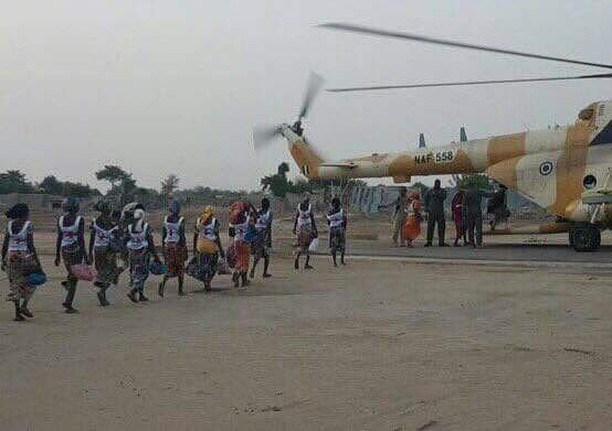 82 Freed Chibok Girls Arrive Abuja, To Meet President