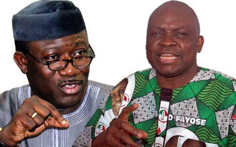 Kayode Fayemi vs Ayo Fayose