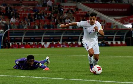 Sanchez in Cameroon v Chile - FIFA Confederations Cup Russia 2017