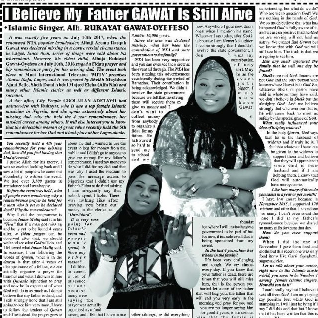 City Peoples gbolahanadetayo had an interview with Islamic singer rukagawathellip