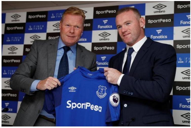 Rooney, Koeman, Everton
