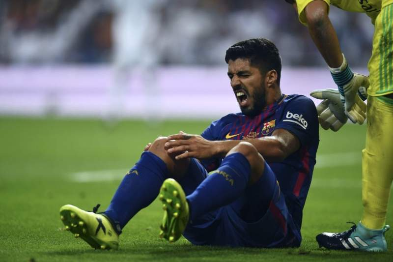 Luis Suarez injury