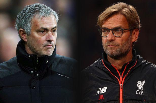 Manchester-United-v-Liverpool-Jose-Mourinho-Jurgen-Klopp