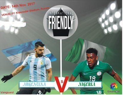 Nigerias friendly game against Argentina is set for 5pm todayhellip