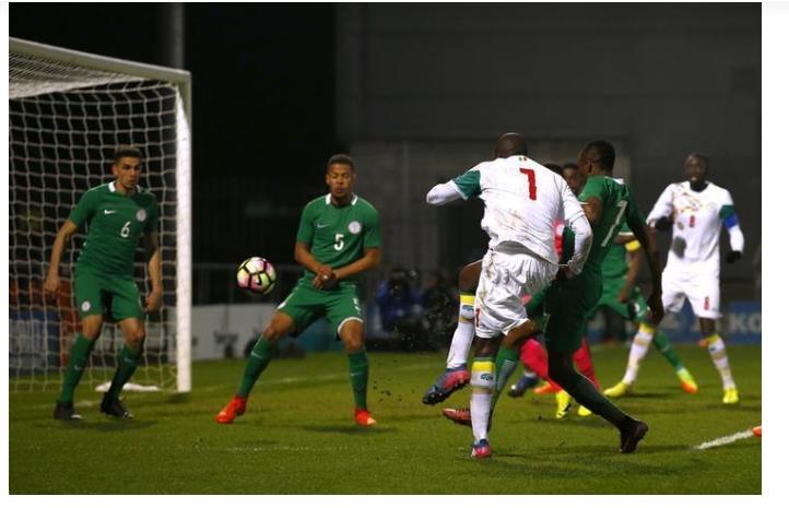 Super Eagles of Nigeria in action