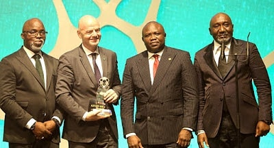 GOV Ambode attends NFF AITEO Awards at Eko Hotels andhellip