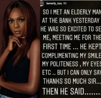Beverly Osu meets elderly man who is obsessed with herhellip
