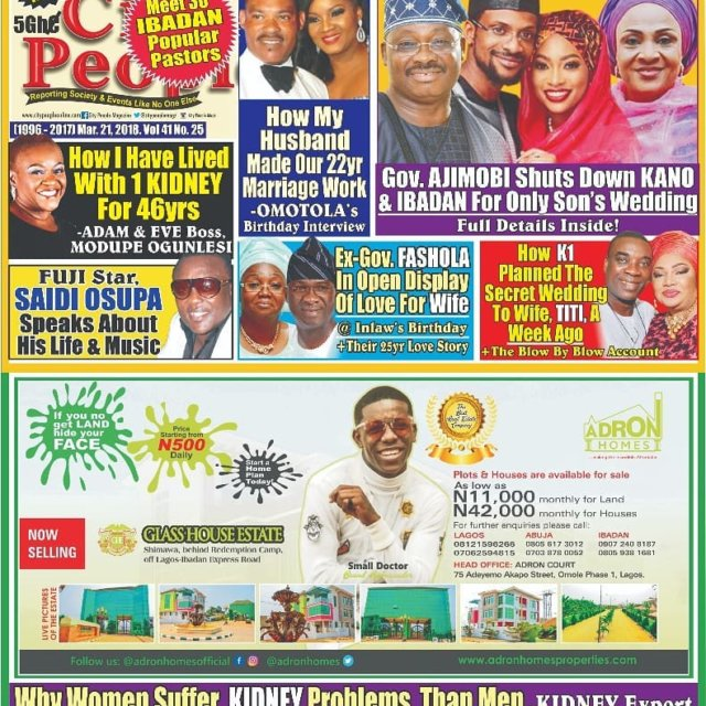 This week City People Magazine cover page with interesting andhellip