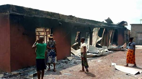Army Burnt house