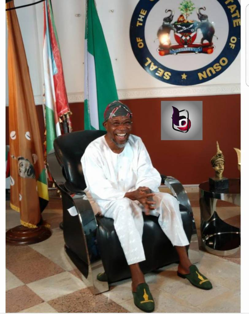 Gov Rauf Aregbesola in his office