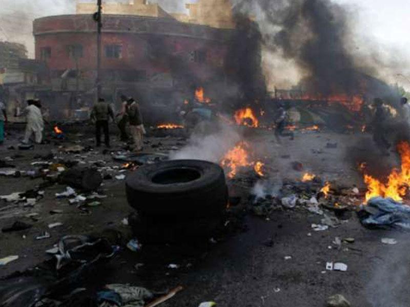 Bomb Blast-Scene, Ekiti Governor's Office,