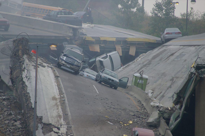 Collapsed bridge in owerri