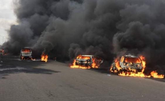 Tanker explodes, Lagos Badagry Express,