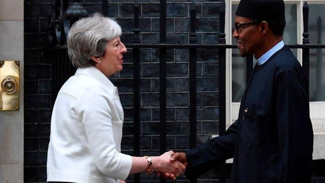 President Buhari, Theresa May, UK, LINKS