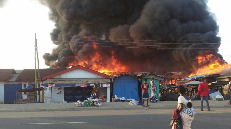Fire, Kara Cow Market, Fuel Tanker,