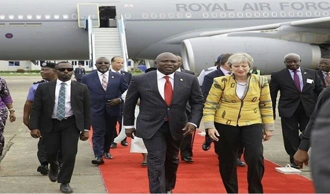 Lagos, Gov Akinwunmi Ambode, Theresa May, UK Prime Minister