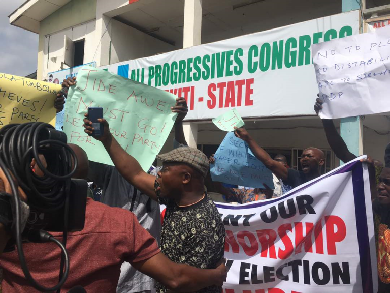 APC, Protest, Ondo State