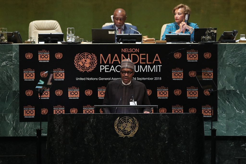 Buhari, UN, Nelson Mandela, South Africa