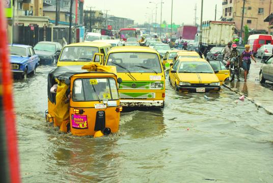 flood, Lagos, First rain,