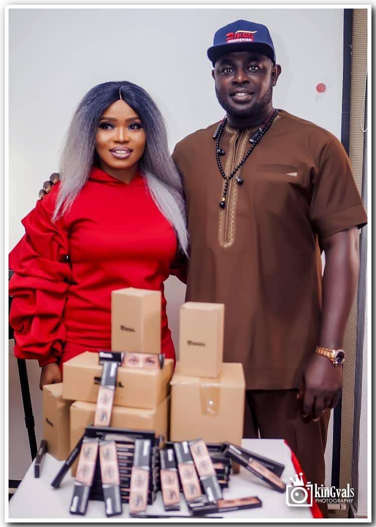 zikel-cosmetics-brand-ambassador-halima-abubakar-and-chief-executive-officer-zikel-cosmetics-mr.-kelvin-chinedu.