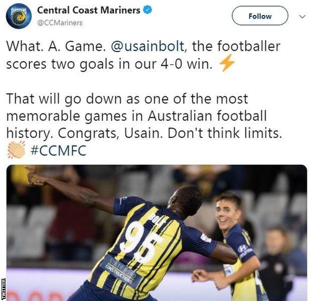 Usain Bolt goal