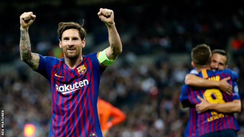 Messi, Tottenham vs Barcelona