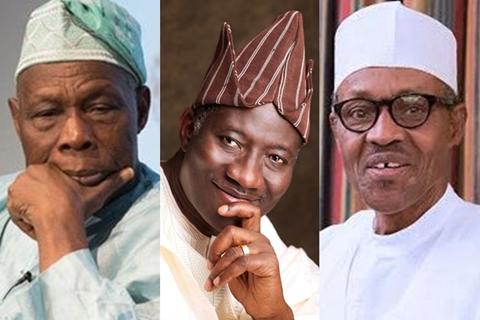 Nigeria presidents, Obasanjo, Jonathan, Buhari