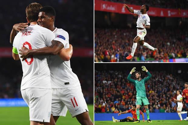 Raheem Sterling England vs Spain