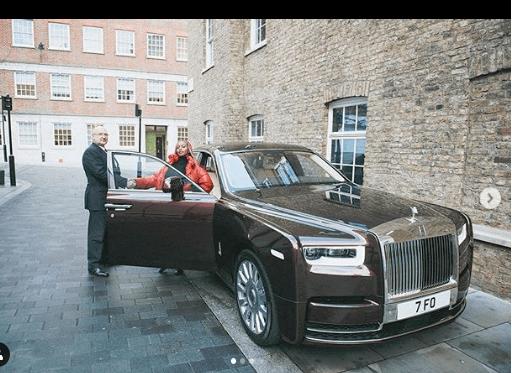 DJ Cuppy, Rolls Royce Phantom,