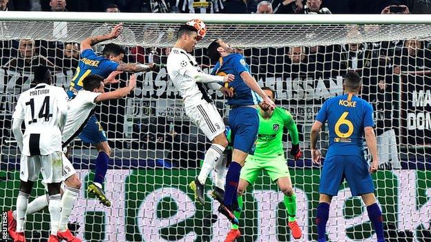 Ronaldo Header, Atletico Madrid, UCL,