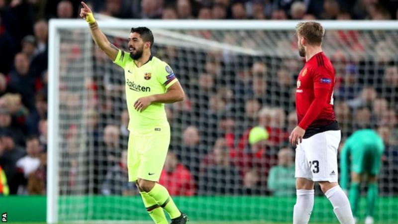 Suarez, Luke Shaw, Barcelona, Machester United, UCL,