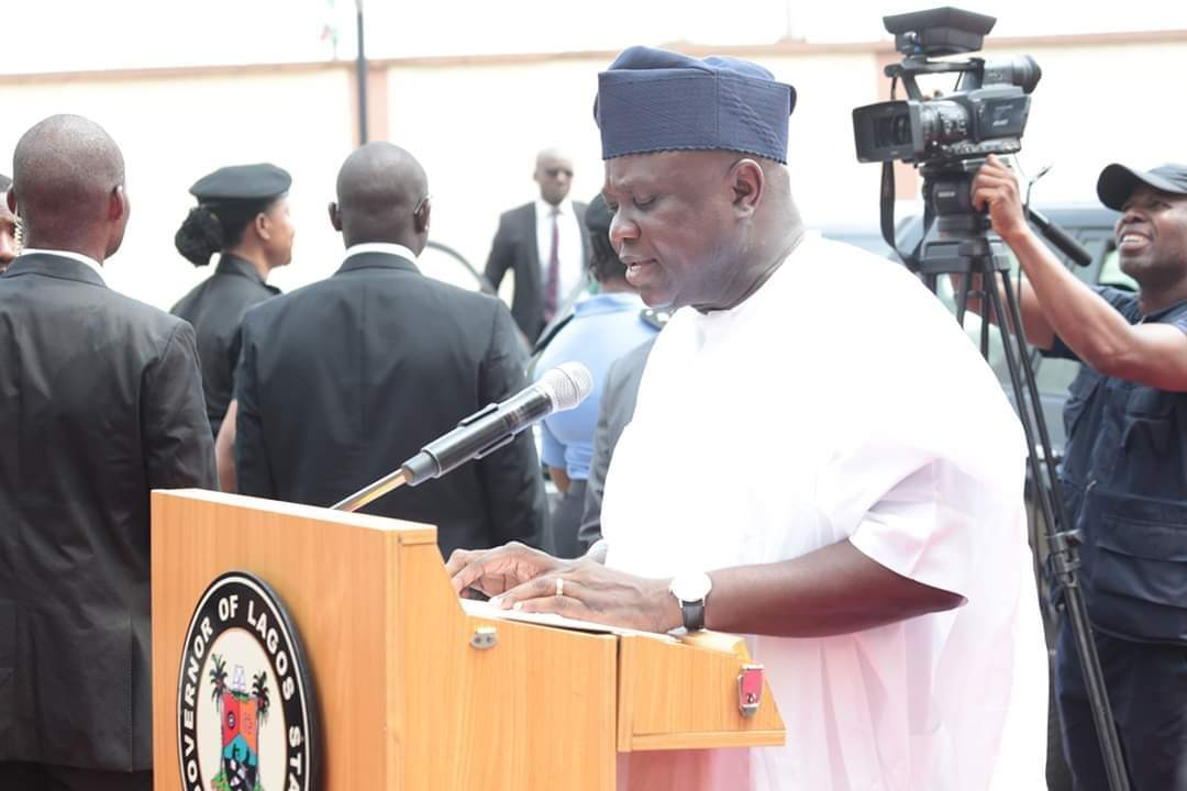 Gov Ambode, President Buhari, Ayinke House,