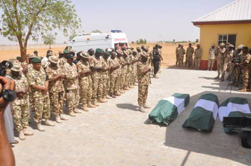 Army Buries Officers