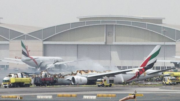 Dubai Airport, Plane crash,