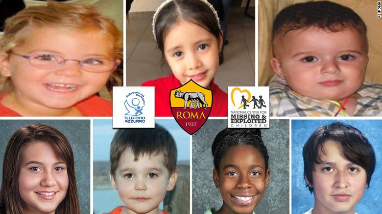 AS Roma, Missing Children Campaign,