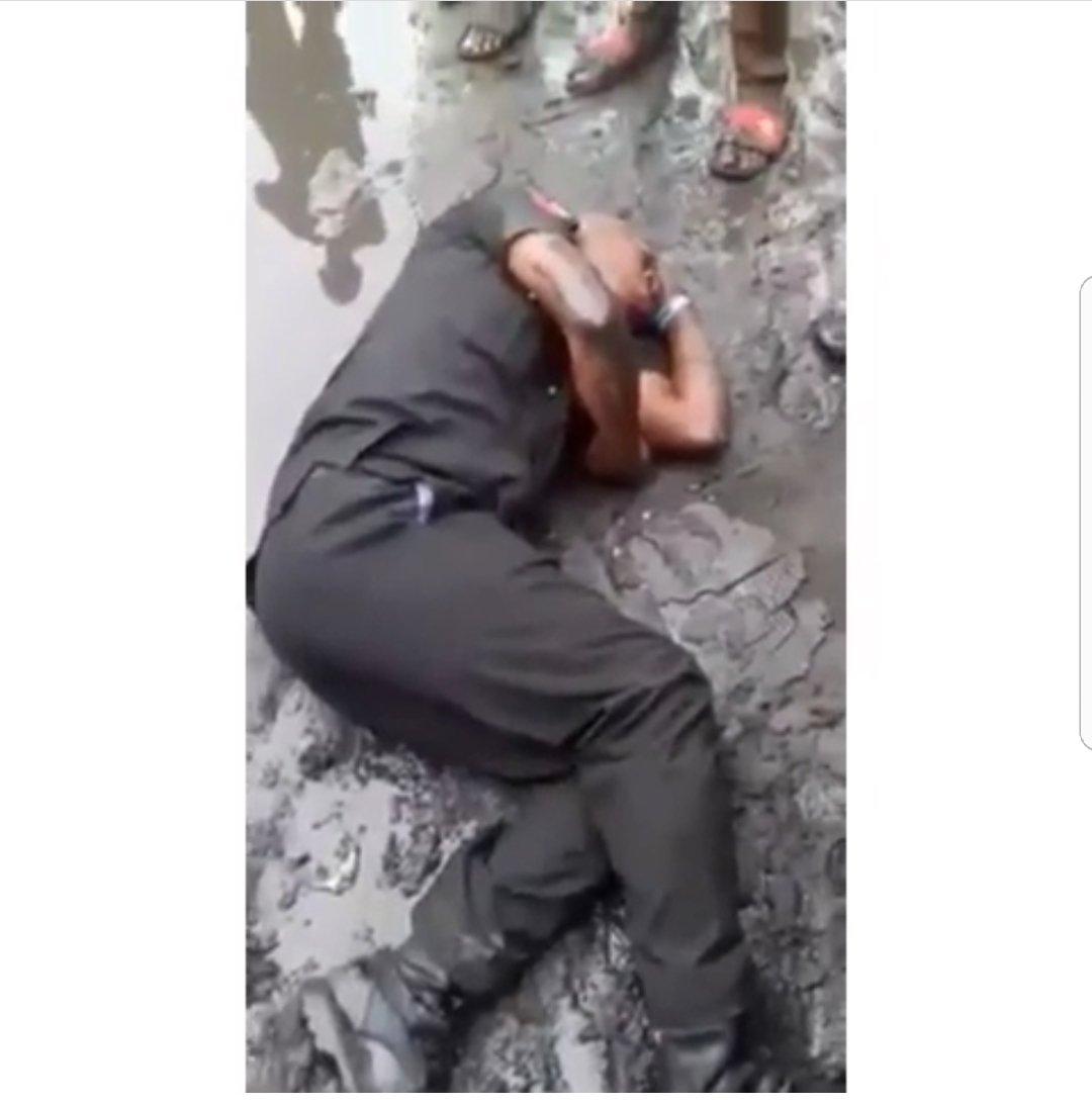 Drunk Nigerian police officer