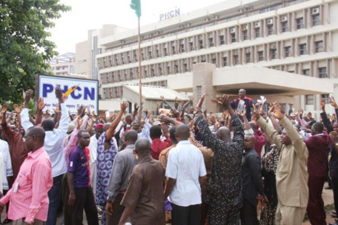 PHCN-employees-protest, NUEE,