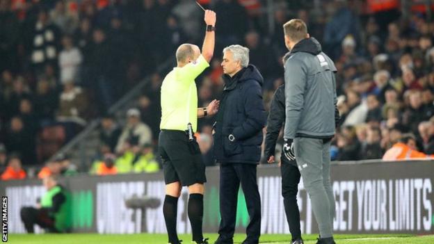 Mourinho, Mike Dean, Tottenham, EPL,