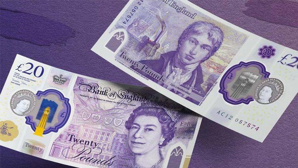 Twenty pound note, UK, Britain,