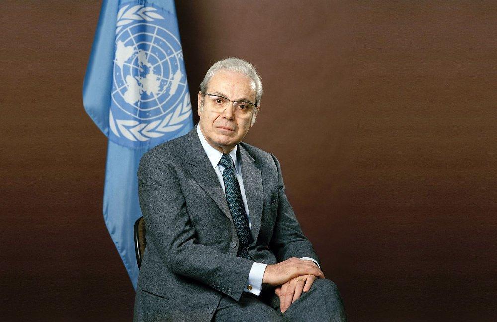 UN, Secretary General, Javier Perez de-Cuéllar,