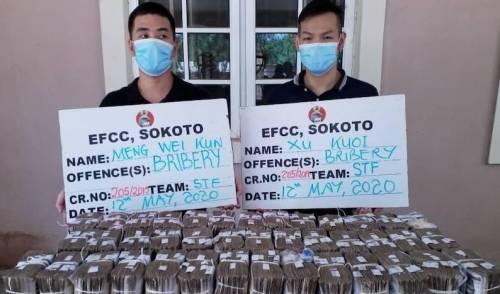 Chinese Men, EFCC, N50m bribe,