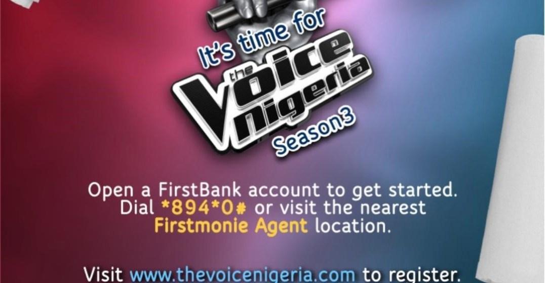 The Voice Nigeria Season 3, First Bank,