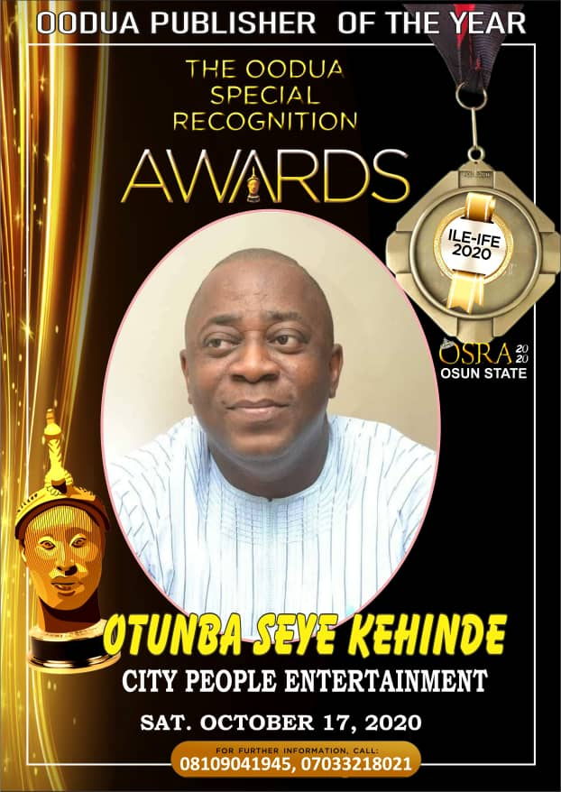 Seye Kehinde, City People, Oodua Awards,