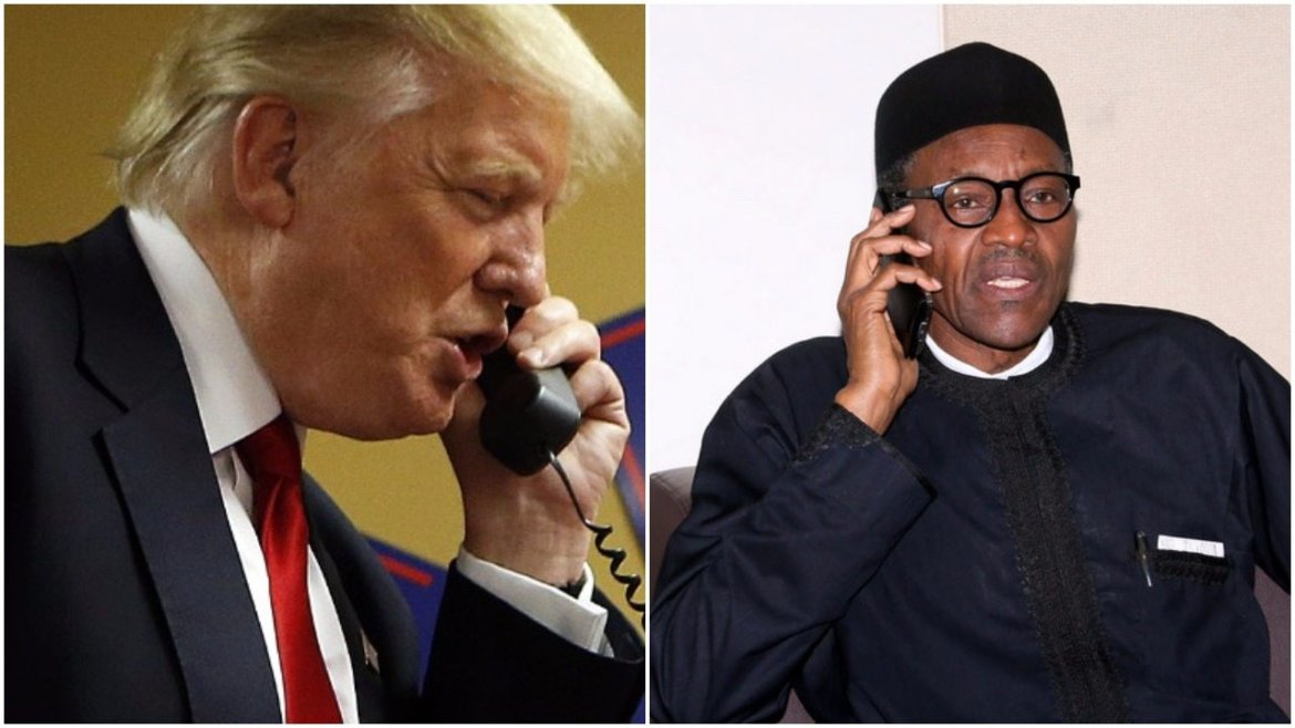 Trump-and-Buhari-on-Phone