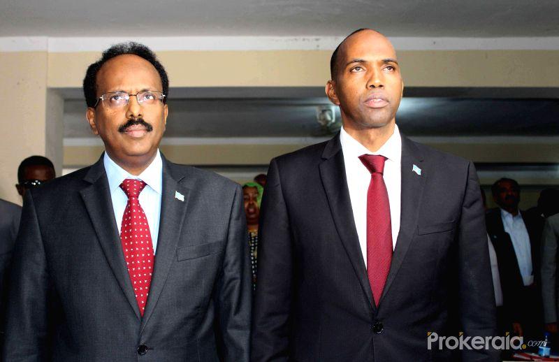 Hassan Ali Khaire and somali-president-mohamed