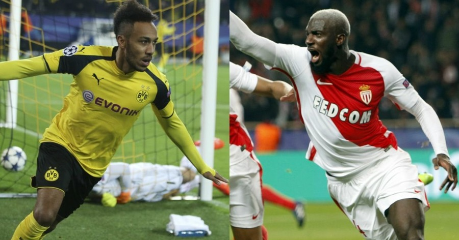 Kylian Mbappe in Monaco vs Borussia Dortmund