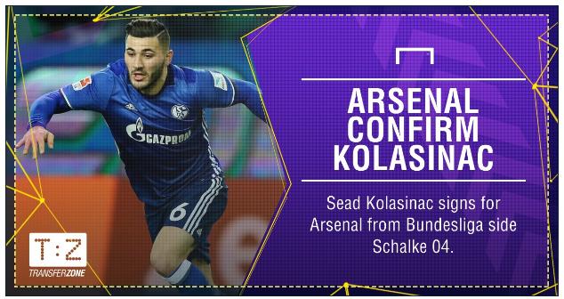 KOLASINAC, New Arsenal Signing